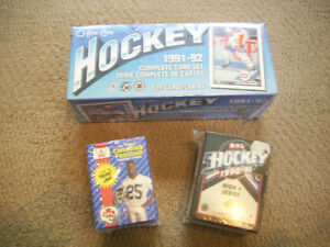 NHL and CFL card sets - unopened.