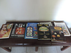 8 STAINED GLASS BOOKS