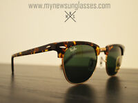 Rayban Sunglasses CLUBMASTER RB3016 New - Hand Made in Italy