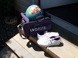 Boule de Bowling-Sac et soulier grandeur 6 et demi