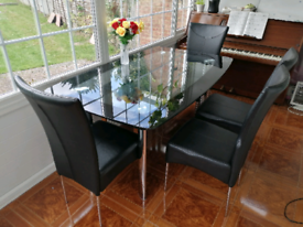 Harveys Boat double shelf glass dining table (£575 original)