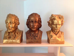 Buste ** Mozart, Bach, Chopin, Beethoven ** Bust