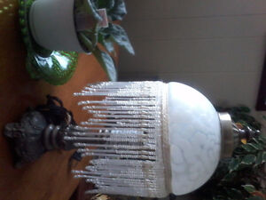 Vintage Frosted Glass Lamp