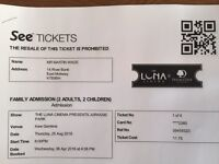 Luna Cinema tickets - Jurassic park