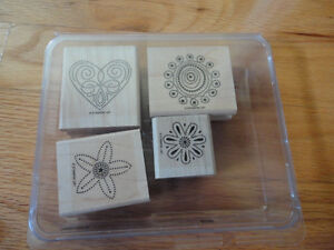 Stampin' Up: Polka Dot Punches Stamp Set of 4