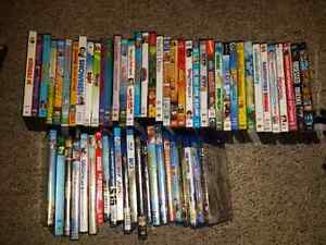 A variety of kids and adults movies 3$each