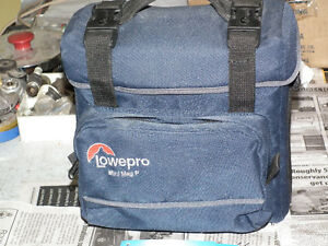 CAMERA  BAG  PADDED  HOLDS FULL SIZE CAMERA .