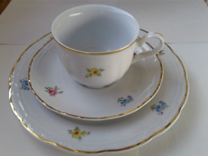 Vintage new floral fine porcelain coffee/tea/dessert set