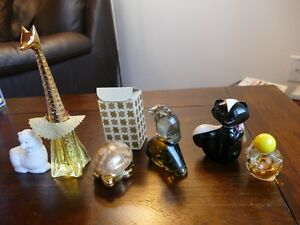 6 Vintage Avon Animal Perfume Bottles