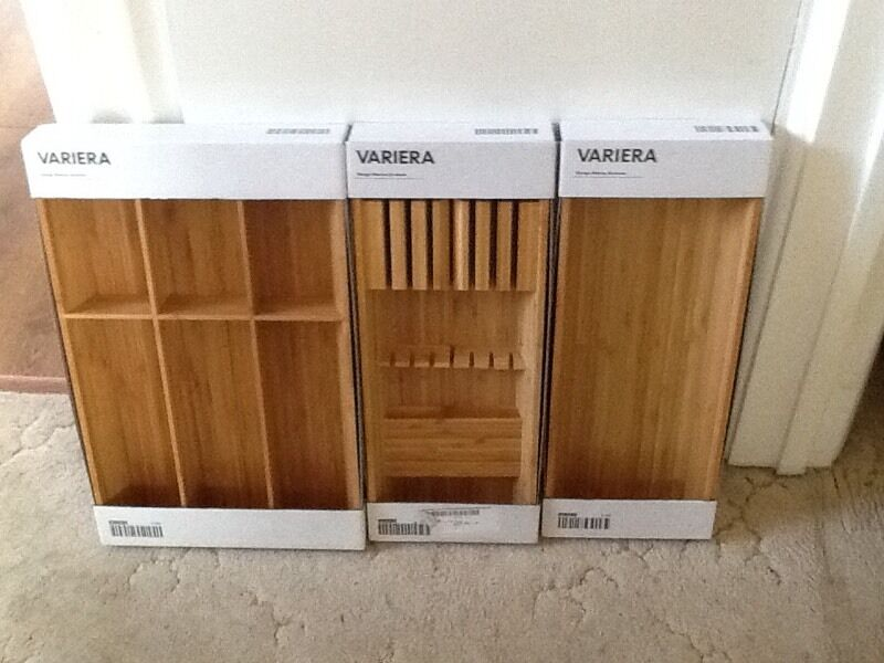 Ikea Variera Knife Amp Cutlery Trays Bamboo New In