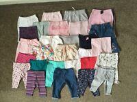 0-3 month girls bottoms 28 items
