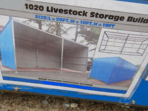 New 10'X20' Steel Shed! Great for horse, Hay,or Tractor storage!