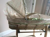 Mammas and papas Moses basket and stand