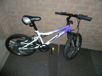 "20"" Girl's Impulse Supercycle 5 Spd Mountain Bike-Front Suspensi"