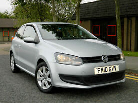 2010 10 Volkswagen Polo 1.2 TDI SE 3dr WITH FSH+AUX+AC+ALLOYS