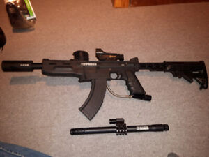 Fully upgraded paintball marker tippmann 98 with cyclone ak47