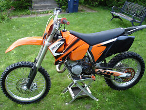 KTM SX125 with Ownership. Lots recently invested. Low hours