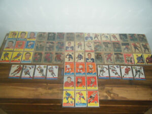 MEGA LOT VIEILLE CARTES DE HOCKEY,BASEBALL,FOOTBALL 1952 A 1972