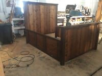 Country style bed frame