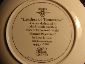 """Future Physician """"Leaders of Tomorrow"""" 1980 Gorham Fine China Belleville Belleville Area image 4"""