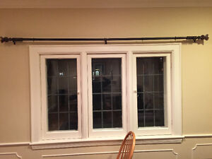 Curtain Rod with Oil-rubbed Bronze Finish