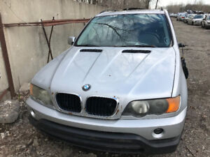 2002 BMW X5  ***FOR PARTS*** inside & outside
