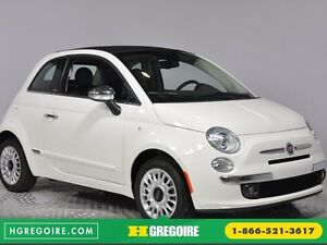 2015 Fiat 500c LOUNGE CONVERTIBLE CUIR A/C AUTO BLUETOOTH AUDIO