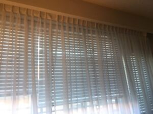New Curtains - Must Sell - White Sheers - 25x92 per panel