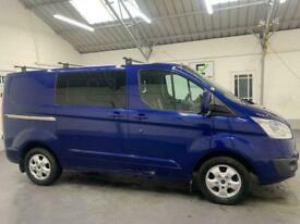 BLUE FORD TRANSIT CUSTOM 2.2 290 LIMITED LR DCB *BUY TODAY FROM £312 PER MONTH*