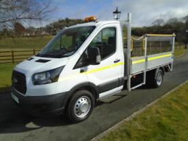 FORD TRANSIT 350 130PS 10FT 6IN DROPSIDE PICKUP TAIL LIFT 66 REG 12,600 MILES