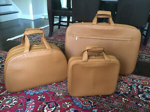 Porsche 911 Luggage Set – Camel Brown – 3 Pieces – Brand New