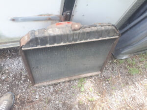 1972 ford truck rad with factory date stamp with shroud