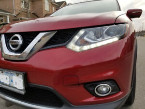 2015 Fully Loaded Red Nissan Rogue SL Premium AWD