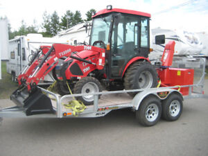 Tractor,Trailer and Blower Package