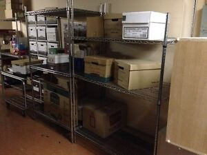 Metal Wire Shelving Units x2