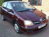 2002 52 Nissan Almera Tino 1.8 SE 5dr Very Low Miles and Great Drive