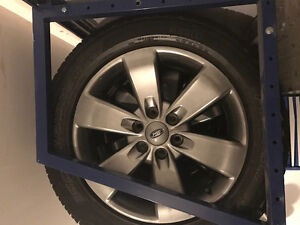 Ford rims and Pirelli tires