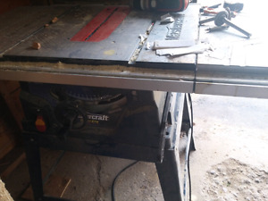 """Mastercraft table saw 10""""and stand"""
