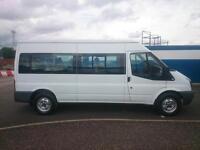 "FORD TRANSIT T370 140 BHP 15 SEAT MINIBUS 2008 ""58"" REG 59,000 MILES **NO VAT**"