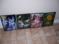 Flower Wall Art (4 Pieces)