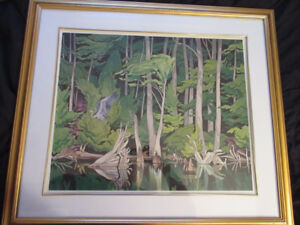 Group of Seven Canadian Artists:  AJ Casson Blue Heron print