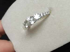 Absolutely Stunning Canadian Ice Diamond Engagement Ring & Band