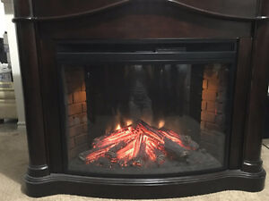 Fireplace - Electric ($250) & pair of lamps ($80)