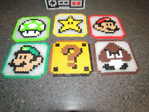 Handmade Nintendo Character Coasters with NES Controller Holder Cambridge Kitchener Area image 3