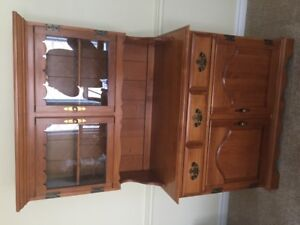 dining room table and china cabinet/hutch set roxton solid wood