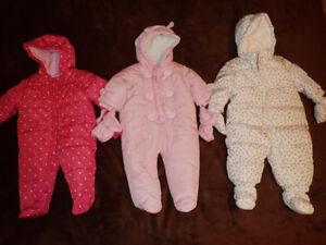 Baby Girl Snow Suits (3-6, 6-9 or 6-12 months)