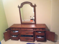Rare Classic 4 piece Solid Mahogany Bedroom Set (Made in Canada)