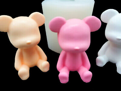 3D Sitting Bear XL, Silicone Mold Polymer Clay Jewelry Soap Resin Wax