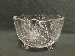 Collectible Antique Perfect Crystal Pinwheel Candy Dish London Ontario image 1