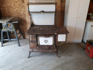 Antique wood cook stove $160.00 obo